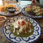 Dinner on beautiful plates