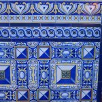 Blue tiles at Museo Evita