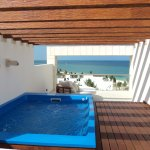 plunge pool and terrace