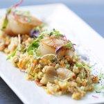 Seared Diver Scallops - Ancient grains, zucchini, carrots, thyme, pancetta