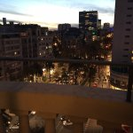 The view to Avenida Diagonal in the evening. (Suite)