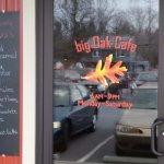 Big Oak Cafe Door Sign