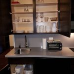 King suite well stocked kitchen