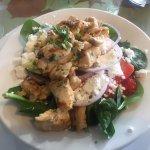 Starter size Summer Spinach Salad with Chicken, Trees Restaurant 1385 Alberni Hwy, Parksville, B