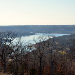 Table Rock Lake from the entrance road to Big Cedar