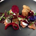 Nelson Salmon with goats cheese and beetroot