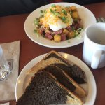 Corned Beef Hash option with Rye toast, Plates Eatery & Catering Co, 2601 Cliffe Ave, Courtenay,