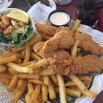 Chicken fingers meal with Caesar salad and fries, Plates Eatery & Catering Co, 2601 Cliffe Ave,