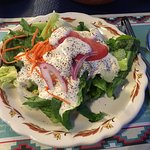salad with ranch