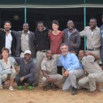 The friendly staff of the Ang'ata Kuro Camp in Tarangire National Park.