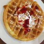 Guloseima do café da manhã= waffle