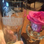 Vancouver Brewery glass, Giovanni's Ristorante & Lounge,n #3 & #4, 180 Second Ave West, Qualicum
