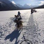 Crossing the Lake half way through the Powder Hound Express, just beautiful!