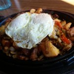 A breakfast skillet (maybe Santa Fe? forgot the name). Hot and delicious!