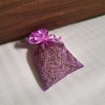 They put a lavender sachet on the bed -- what a lovey touch!