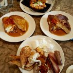 Brunch for four - Swine & Dine, Smoked Meat Hash skillet, Stuffed French Toast