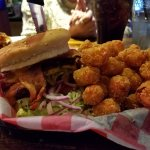 OMG the burger was huge and they have Tater Tots even better