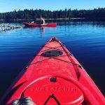 Kayaking,  Spider Lake Provincial Park,., Qualicum Beach, BC