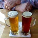 Two tasters of beer