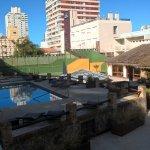 Área da piscina externa
