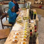 So many different varieties of olive oil, vinegar and honey to taste!
