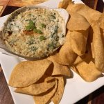 very tasty spinach & artichoke dip at the Black Rose Pub
