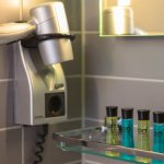 Hair Dryer and Shower Amenities