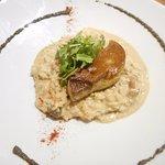 risotto aux champignons et foie gras poelé