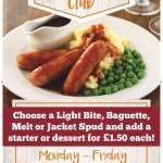 Lunch club every weekday 12 - 5pm