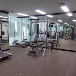 Gym workout area