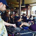 DJ Oliver Sudden keeps Brunch lively.