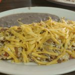 MIgas with cheese