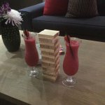 Cocktails and jenga