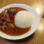 香草密糖烤雞配飯鮮菌燒雞濃汁