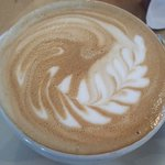 Cappuccino at Art Cafe in Nyack