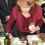 Olive and feta tasting