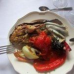Escalivade de légumes grillés et anchois marinés