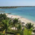 Vista desde el hotel de las playas