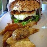 esta super hamburguesa fue mi cena