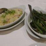 Gratin Potatoes Romanoff and Green Beans Almandine