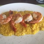 Risotto au fromage et gambas