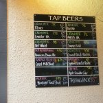 List of brews on tap