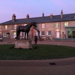 The King's Yard can where the bronze statue of Frankel stands