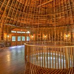 Round Barn built in 1914.  Great for a wedding dance!