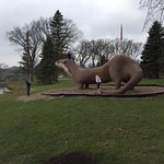 OTTER STATUE IN DOWNTOWN FERGUS fALLS