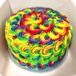 A psychedelic rose layer cake