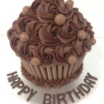 An Ultimate Chocolate Giant Cupcake