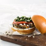 Greek Style Veggie Burger