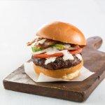 North Wildwood Burger (Applewood smoked bacon, avocado, tomato, onion & homemade ranch dressing)
