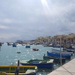 Pretty Marsaxlokk fishing village, just a few metres from the guesthouse